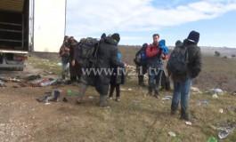 Спречен шверц на 34 мигранти и бегалци на стариот пат Скопје - Куманово (видео)