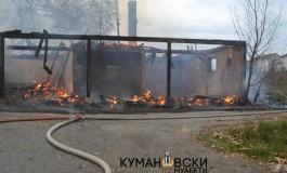 Пожар пеплоса куќа во село Добрача