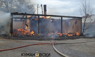 Куќа изгоре до темел во селото Орах