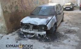Автомобил изгоре на патот Куманово - Крива Паланка