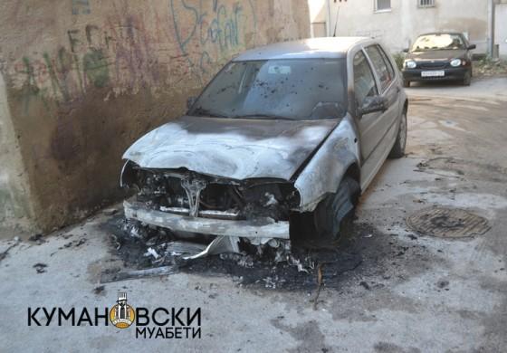 Пронајдено опожарено возило, претходно користено за разбојништво во Куманово