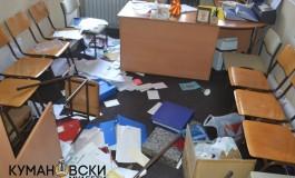 Демолирани партиските простории на ДПСМ во Куманово (фото)