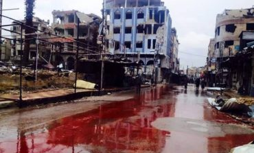 Река од крв во Сирија, но тоа не се Германија и Франција! (видео 18+)