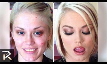 Порно актерките пред и после шминкање (видео)