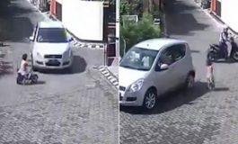 Автомобил удри, па прегази девојче, а тоа стана како ништо да не се случило (видео)