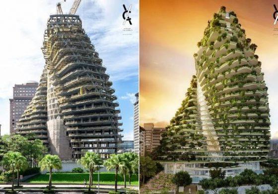 Тајван добива кула која ќе апсорбира смог (фото)