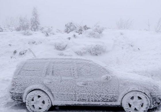 К'д га забравиш авто на -34 степена (фото)