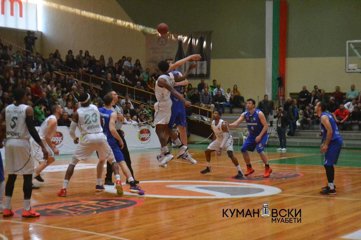 КК Куманово го изгуби првиот финален меч со екипата на КК Берое (Галерија)