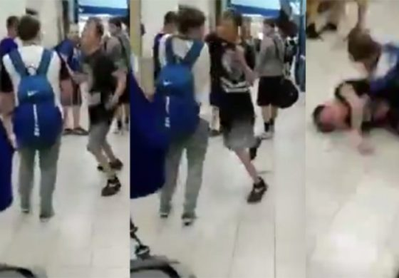 Му удри бокс во лице, но зажали само две секунди подоцна (видео)
