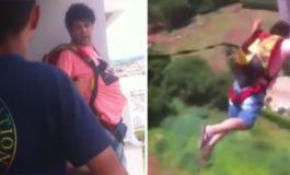 Си купил падобран од интернет, па решил да го испроба од својот балкон (видео)