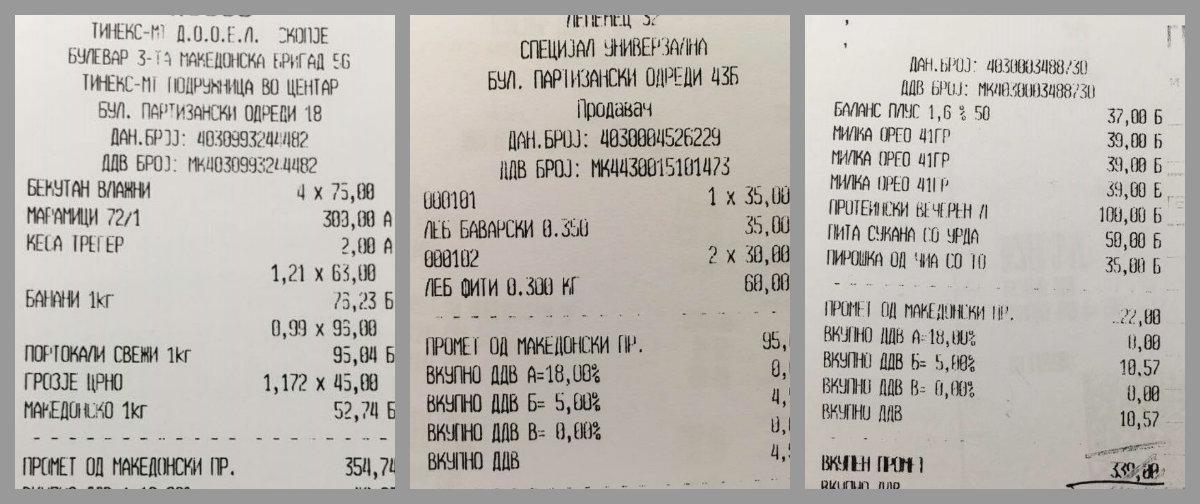 БИРН: Со државни пари се купувале мастики, јогурт, леб и Милка