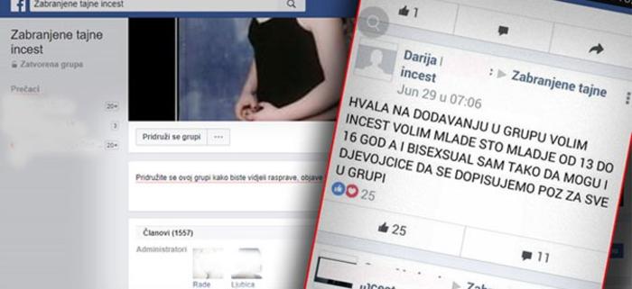 Две Фејсбук групи на Балканот отворено повикуваат на инцест, педофилија…