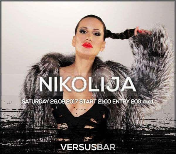 Балканската мега звезда Николија во сабота во Бар Версус !