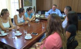 Ракометарките на средба со претседателот на Советот на општината