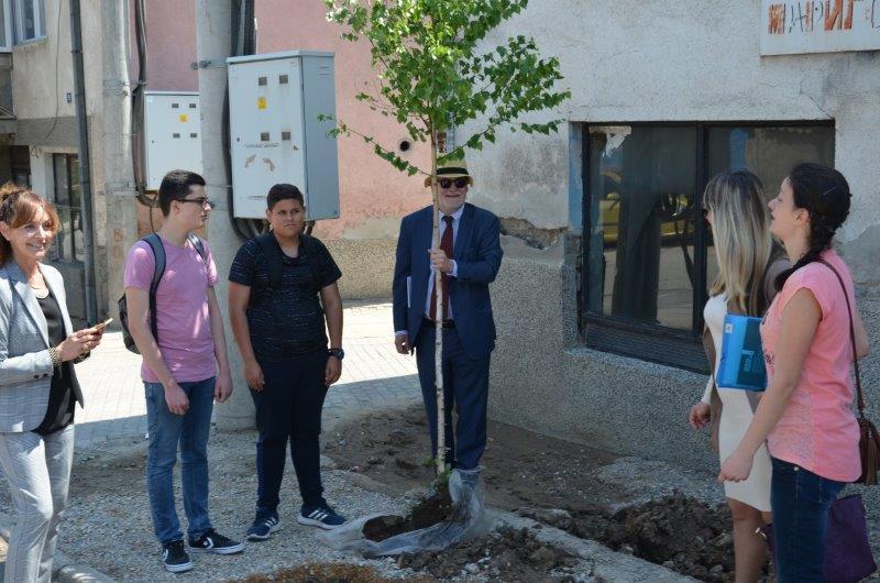 (ГАЛЕРИЈА) Димитриевски и амбасадорите на ЕУ засадија дрвца во Диво насеље