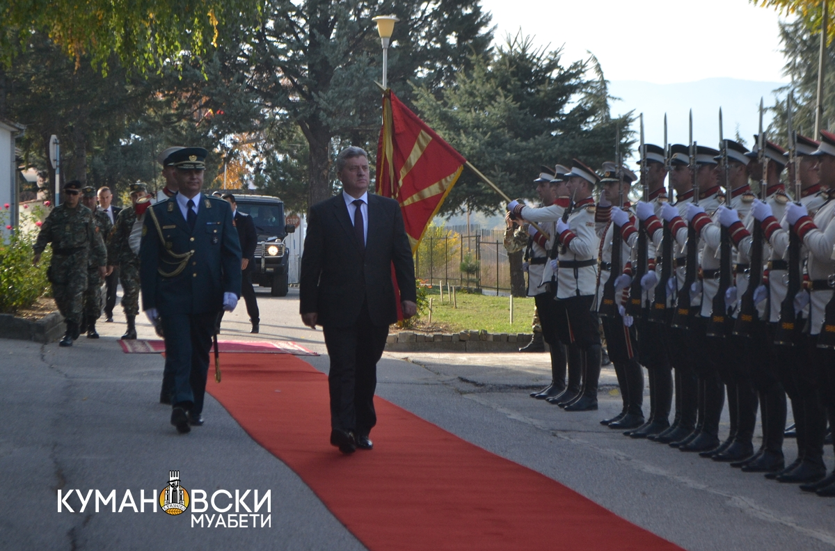 """Во касарната """"Боро Менков"""" одбележана 25-годишнината од формирањето на ЗОК (фото)"""