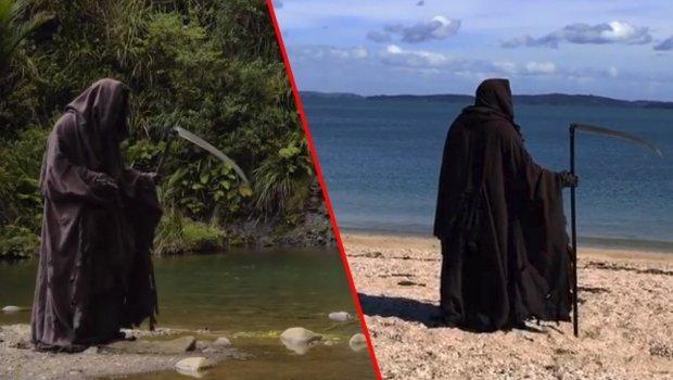 Смртта има свој Инстаграм профил: Се слика на плажа и го следат околу 170.000 луѓе (видео)