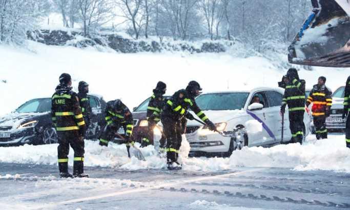 """""""Еленор"""" однесе шест животи во Франција, во Шпанија војската спасува заробени во снег"""