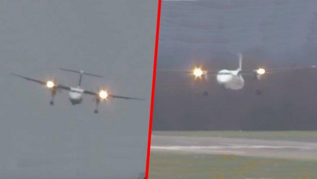Најлошата бура во последните 50 години го вртеше авионот на небото (видео)