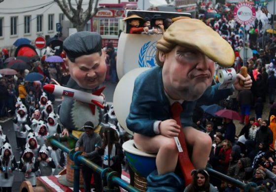 Трам, Путин и Ким Џонг Ун на едно место – Започна карневалот во Португалија (ФОТО)