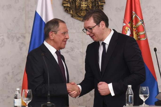 Лавров од Белград: ЕУ е пасивна за идеите за Голема Албанија, се прекршува Охридскиот договор
