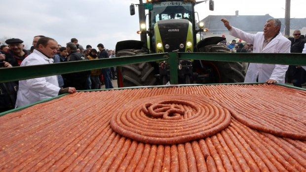 Во Војводина направен најдолгиот колбас на светот
