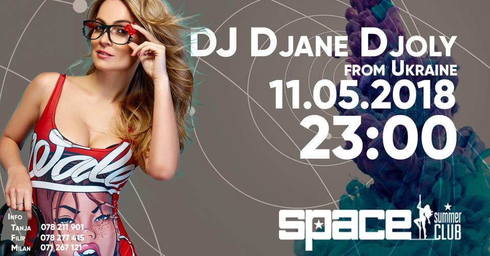 DJ Djane Djoly од Украина во петок ќе го бранува Summer Club Space