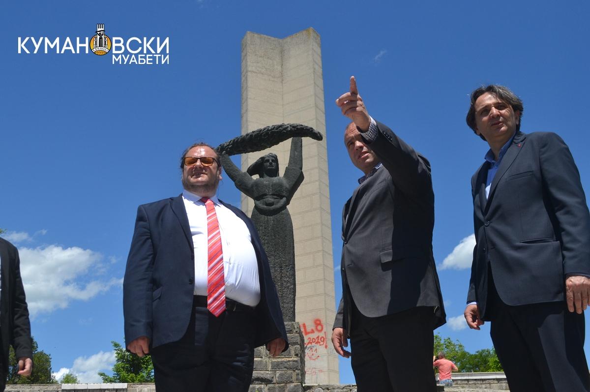 Министерот Алаѓозовски најави реконструкција на Спомен Костурница (ФОТО)