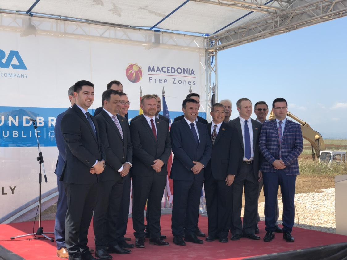 Министерот Бектеши на свеченото отпочнување на проектот на американската компанија DURA Automotive Systems