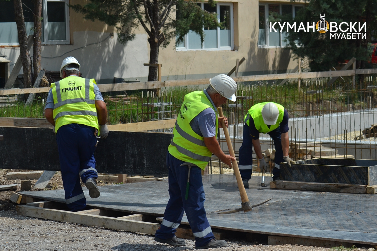 (ГАЛЕРИЈА) Започна изградбата на спортска сала во село Черкези