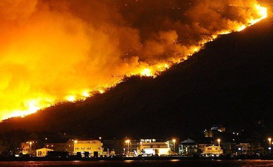 Пожари беснеат во Хрватска, пожарникарите едвај успеваат да ја совладаат огнената стихија