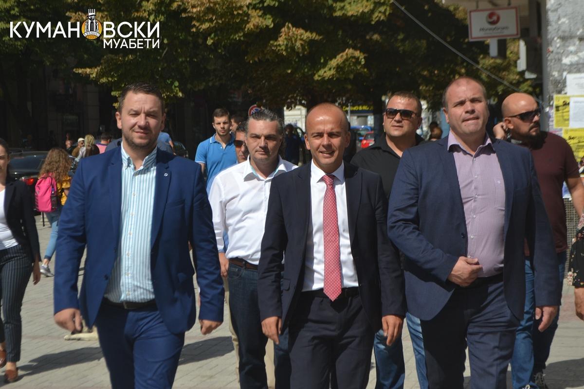 Министерот Тевдовски се сретна со градоначалникот и граѓаните на Куманово (ФОТО)