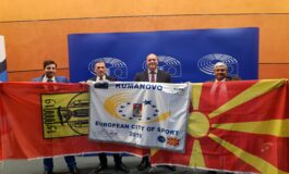 Димитриевски во Брисел ја прими наградата за Европски град на спортот