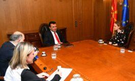 Средба на премиерот Заев со британската амбасадорка Галовеј