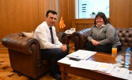 Премиерот Заев на средба со Нина Костовска: Да продолжиме да креираме општество еднакво за сите