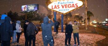 Лас Вегас под снег, граѓаните во чудо (ФОТО)