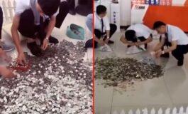 Купила автомобил од 24.500 евра во монети: Работниците три дена ги броеле парите (ВИДЕО)
