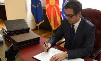 Претседателот Пендаровски потпиша укази за прогласување на 21 закон