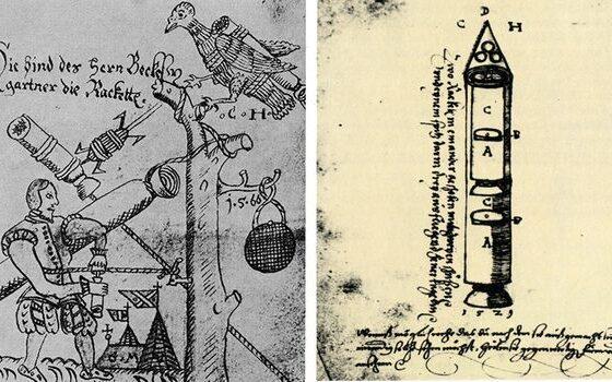 Ова е прва скица на ракета, направена уште во 16 век