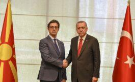 Пендаровски на средба со турскиот претседател Ердоган (ФОТО)