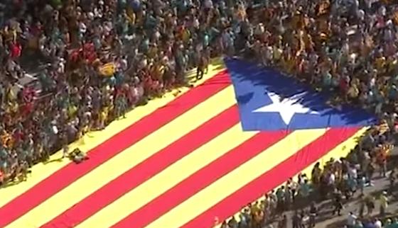 НАПНАТО ВО БАРСЕЛОНА: 600.000 луѓе бараат независност на Каталонија