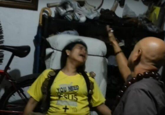 Вриштење во агонија: Бизарна снимка од истерување демони од девојче на Филипини (ВИДЕО)