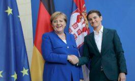 Меркел – Брнабиќ: Косово е единствената точка на несогласување