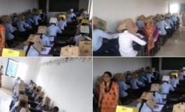 На факултет им ставиле кутии на главите за да не препишуваат (ФОТО)
