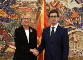 Претседателот Пендаровски ги прими акредитивните писма на новоименуваните амбасадори на Латвија, Луксембург и Ирска