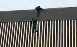 Оградата на Трамп од 5,5 метри мигрантите ја минуваат како од шега (ВИДЕО)