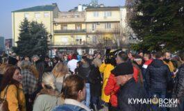 Кумановци на протест поради аерозагадувањето (ФОТО+ВИДЕО)